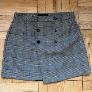 Zara large button skirt